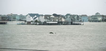 Galveston, TX, USA -- September 12, 2008--Waters rise in areas throughout the city as Hurricane Ike approaches the east coast of Texas. Jocelyn Augustino/FEMA